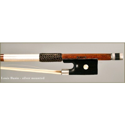 Louis Bazin silver mounted violin bow
