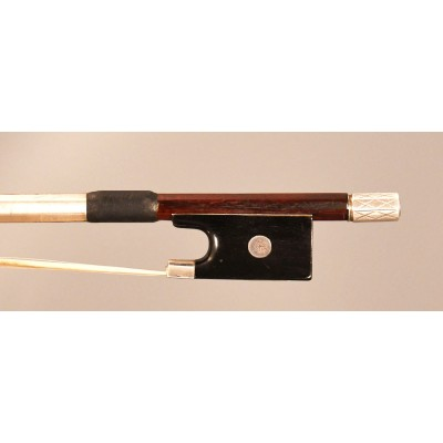 Heinz Dölling engraved silver mounted violin bow