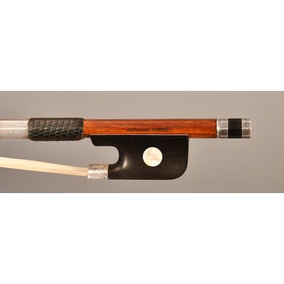 Jacques Poullot cello bow - silver mounted